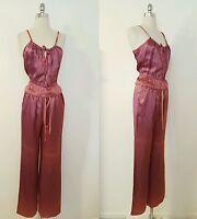 1970s Vintage Women's Pink Pants Set Size Disco Era Skate Style