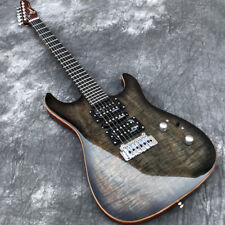 Grote Koa top Electric Guitar w/ Wilkinson Pickup &Bridge Abalone Dot inlays