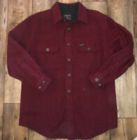 Vintage Woolrich Mens Medium Wool Button Front Shirt Heavy Red EUC