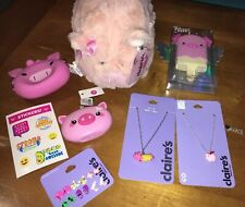 Claire's Piggy Blanket Pig Lover Lot Nwt Bank Jewelry Coin Purse Justice Sticker