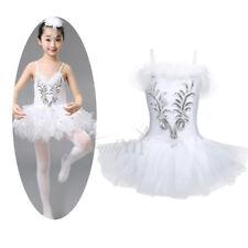 Girls Gymnastic Ballet Leotard Tutu Dress Ballerina Dance Skating Outfit 4-12Y
