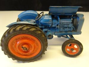 Chad Valley Fordson Power Major Clockwork Tractor Metal Vintage Blue Toy 1950's