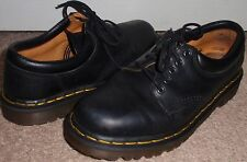 Dr Doc Martens Size Womens 7 Mens 6 Black 5 Eye Low Top Leather Boots Shoes