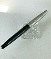 Vintage Black Parker 61 Fountain Pen FINE/MED Gold nib Capillary filler.