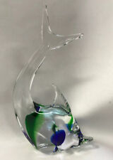 Murano Glass Paperweight ~ FISH ~ Blue,Clear,Green //EUC//