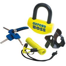 Oxford Boss Motorcycle Brake Disc Lock Yellow 14mm