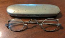 Pair Antique Spectacles McAllister Baltimore 19th C & Case as is
