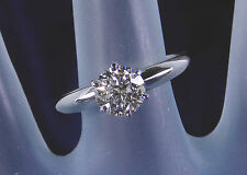 1.06 Carat Genuine Diamond Solitaire Ring – 14KT White Gold