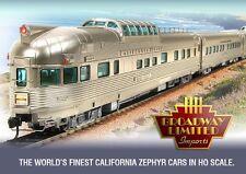 "BLI 1648 California Zephyr 11-Car Set ""B"" ASSORTED ROAD NAMES (2017 Edition) NIB"