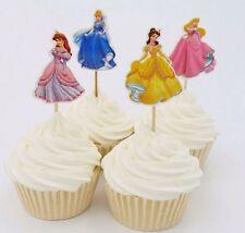 24pcs Cinderella Princess Cupcake Cake Topper Decoration Kids Birthday Party