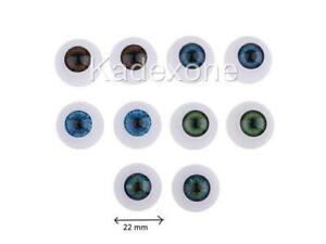 Pair of fake eyes for dolls halloween mask fancy dress false eyeballs 22mm