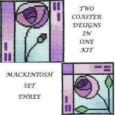 Derwentwater Designs Two Coaster Cross Stitch Kit - Mackintosh 3