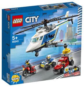 LEGO City 60243 Verfolgungsjagd Polizeihubschrauber Magnet Hubschrauber Motorrad