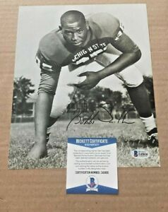 BUBBA SMITH SIGNED MICHIGAN STATE SPARTANS 8X10 PHOTO BECKETT CERTIFIED