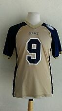Rams #9 football jersey men's small polyester