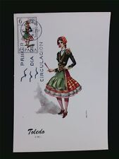 SPANIEN MK 1970 TRACHTEN TOLEDO COSTUMES MAXIMUMKARTE MAXIMUM CARD MC CM c5517