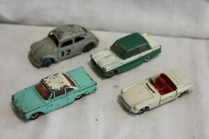 Dinky Meccano Cars for spares or repair Corgi Vintage Diecast toy cars (B)