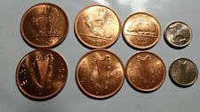 IRELAND, 4 PIECE VINTAGE UNCIRCULATED PRE-DECIMAL COIN SET, 1/2 TO 3 PENNY