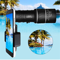 16x52 Zoom Hiking Monocular Telescope Lens Camera HD Scope Hunting Phone HolderK