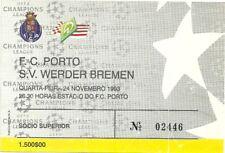 TICKET FC PORTO - WERDER BREMEN 24/11/1993 C1