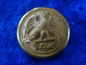 A24-11) US Navy 1 Knopf Anker Adler gold ca.25,4mm button 1in old WWI/II