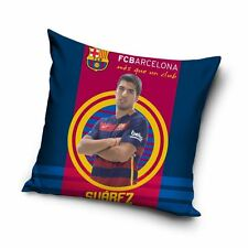 FC BARCELONA LUIS SUAREZ TARGET CUSHION KIDS BEDROOM FOOTBALL FAN NEW
