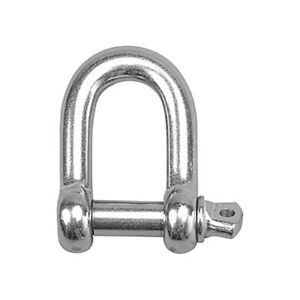D-Shackle Stainless Steel D-shaped Chain Connection Buckle Lock M8 Marine Use HO