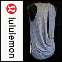 Lululemon Low Key Tank Top Size 2 4 Open Back Heathered Black/Grey NWT