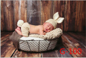 Newborn baby boys girl Crochet Knit Clothes Photo Photography Prop Rabbit Outfit