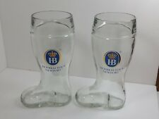 2 Hofbrauhaus Newport 1 Liter German Beer Glasses Das Boot