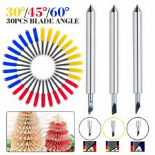 30Pcs Cemented Carbide Cutting Plotter Blade Fit For Roland GCC Refine Blade USA