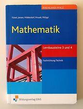 Mathematik. Lernbausteine 3 und 4 Rheinland-Pfalz von William Middendorf, Reinha