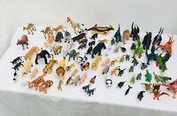 Bundle of small toy farm animals & dinosaurs dragons