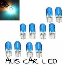 2x T10 Car Globe Halogen Bulb Blue Fog light Front Side Lamp 5W 168/W5W
