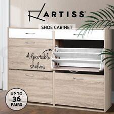 Artiss Shoe Cabinet Shoes Storage Rack Organiser Wooden Shelf Drawer 36 Pairs