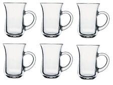 Set Of 6 145 ml Clear Glass Tea Coffee Glasses Cup Mug Turkish Arabic Style Cups