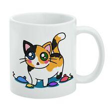 Calico Kitten with Cat Toys White Mug