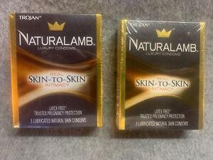 2 Pack Trojan Naturalamb Natural Lambskin Lubricated Condoms 3 Each Exp 01-2025