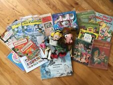 Vtg Alice In Wonderland books,records,tea set,sheetmusic,comics,mov ies,toys