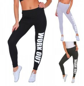 PrettyFashion Work Out Printed Leggings Gym Leggings Stretchy Leggings Size 8-22