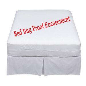 Lab Certified Bedbug Proof Mattress Cover Encasement Protector /free fittedsheet