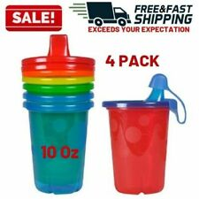 Spill Proof Sippy Cup Plastic Travel Cap Kids Toddler Feeding Dishwasher Safe