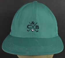 Green Cutter & Buck Golf Embroidered Baseball Hat Cap Adjustable Leather Strap