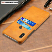For Xiaomi Redmi Note 7 6 Pro 6A 4X Slim Leather Wallet Card Slot Case Cover