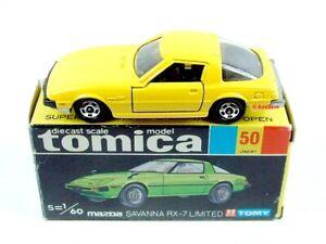 TOMICA / #50 1:60 Mazda Savanna RX-7 Limited (Yellow).