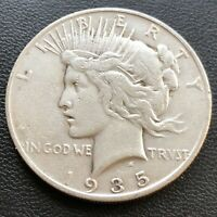 USA 1935 S Peace Dollar $1 Silber Selten #23199