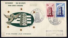 France EUROPA FDC 1956 SC 805-6 Gonzague Cachet