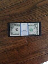 Cool Mid Century Lucite Desk Paperweight $100 One Dollar Bills 1969 B