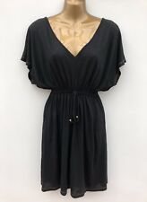 NWOT GEORGE Black Jersey Summer Dress Size Small UK 8 - 10 Semi Sheer