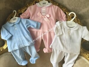 baby outfit set velour outfit 0-3-6 months romany Pex
